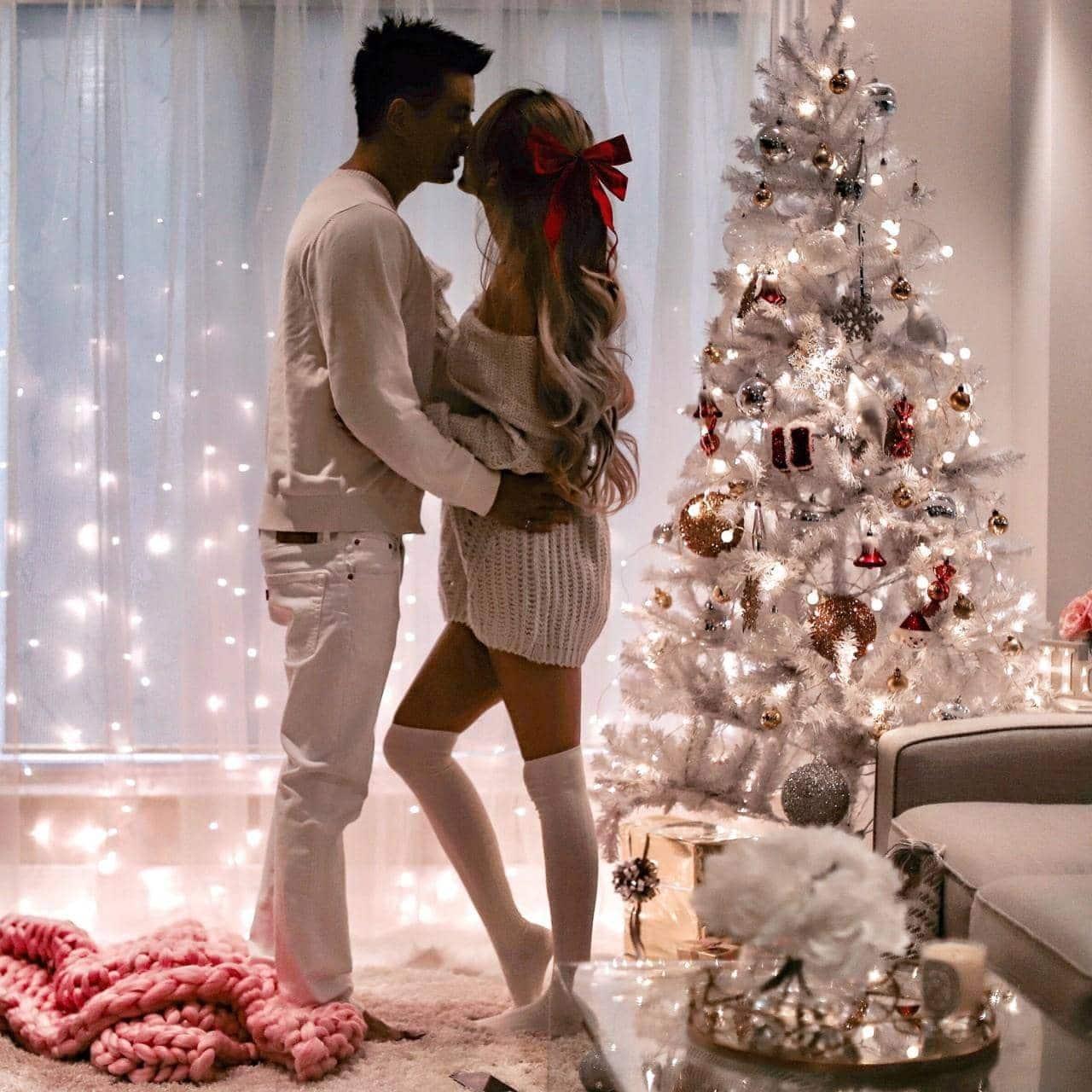 home decor cute couple holiday christmas
