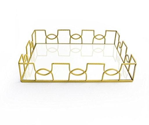 home decor gold tray holidays