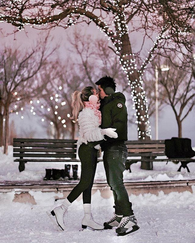 winter romance skating