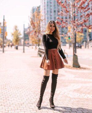 SHEIN fall skirts by Kerina